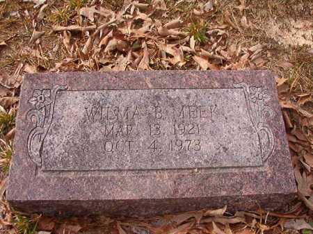 MEEK, WILMA B - Union County, Arkansas | WILMA B MEEK - Arkansas Gravestone Photos