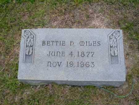 MILES, BETTIE H - Union County, Arkansas | BETTIE H MILES - Arkansas Gravestone Photos