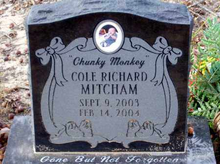 MITCHAM, COLE RICHARD - Union County, Arkansas | COLE RICHARD MITCHAM - Arkansas Gravestone Photos