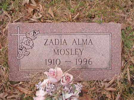 MOSLEY, ZADIA ALMA - Union County, Arkansas | ZADIA ALMA MOSLEY - Arkansas Gravestone Photos