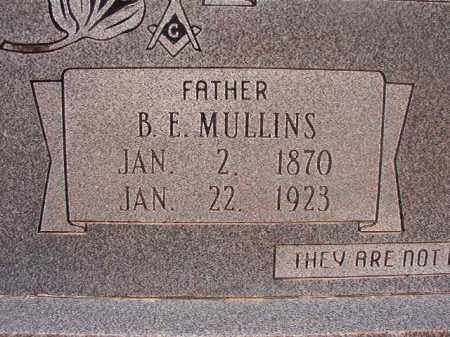 MULLINS, B E - Union County, Arkansas | B E MULLINS - Arkansas Gravestone Photos