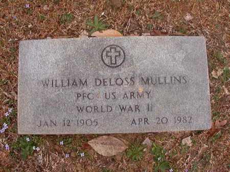 MULLINS (VETERAN WWII), WILLIAM DELOSS - Union County, Arkansas | WILLIAM DELOSS MULLINS (VETERAN WWII) - Arkansas Gravestone Photos