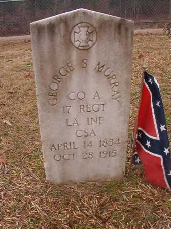MURRAY (VETERAN CSA), GEORGE S - Union County, Arkansas | GEORGE S MURRAY (VETERAN CSA) - Arkansas Gravestone Photos