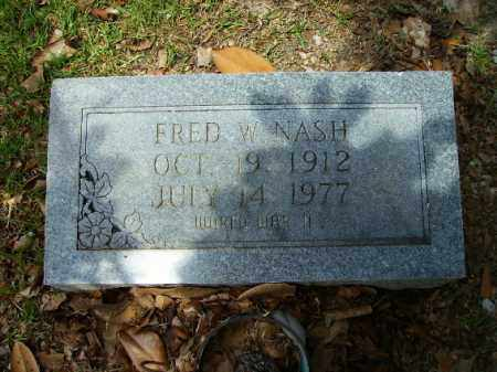 NASH, FRED W - Union County, Arkansas | FRED W NASH - Arkansas Gravestone Photos