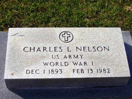 NELSON  (VETERAN WWI), CHARLES L - Union County, Arkansas | CHARLES L NELSON  (VETERAN WWI) - Arkansas Gravestone Photos