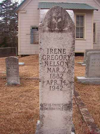 GREGORY NELSON, IRENE - Union County, Arkansas | IRENE GREGORY NELSON - Arkansas Gravestone Photos