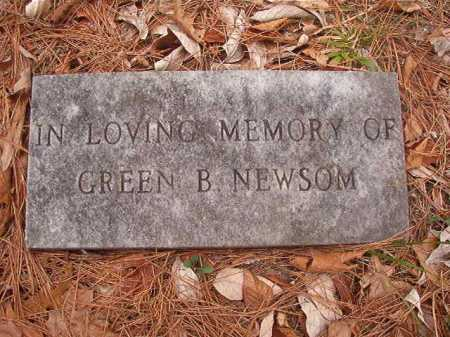 NEWSOM, GREEN B - Union County, Arkansas | GREEN B NEWSOM - Arkansas Gravestone Photos