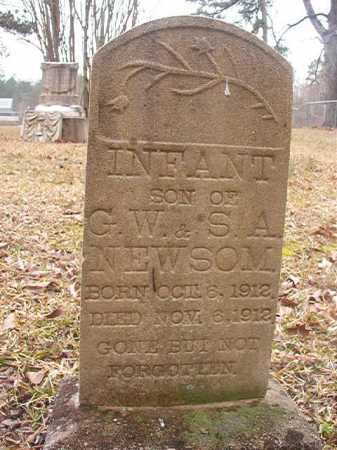 NEWSOM, INFANT SON - Union County, Arkansas | INFANT SON NEWSOM - Arkansas Gravestone Photos