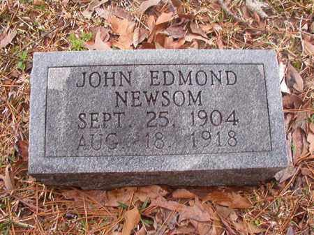 NEWSOM, JOHN EDMOND - Union County, Arkansas | JOHN EDMOND NEWSOM - Arkansas Gravestone Photos