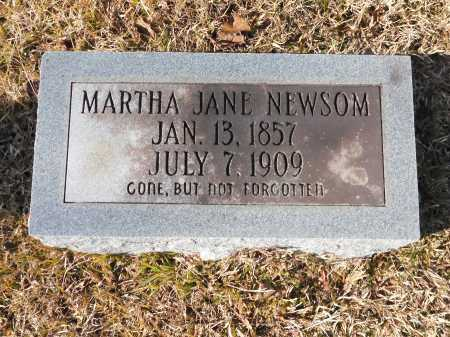 NEWSOM, MARTHA JANE - Union County, Arkansas | MARTHA JANE NEWSOM - Arkansas Gravestone Photos