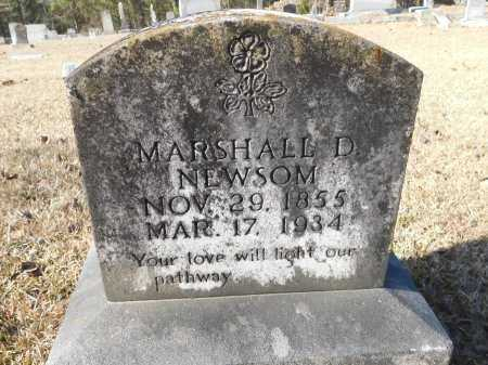 NEWSOM, MARSHALL D - Union County, Arkansas | MARSHALL D NEWSOM - Arkansas Gravestone Photos