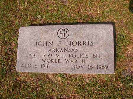 NORRIS (VETERAN WWII), JOHN F - Union County, Arkansas | JOHN F NORRIS (VETERAN WWII) - Arkansas Gravestone Photos