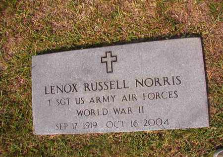 NORRIS (VETERAN WWII), LENOX RUSSELL - Union County, Arkansas | LENOX RUSSELL NORRIS (VETERAN WWII) - Arkansas Gravestone Photos