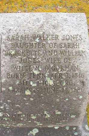 JONES O'GORMAN, SARAH WALKER - Union County, Arkansas | SARAH WALKER JONES O'GORMAN - Arkansas Gravestone Photos