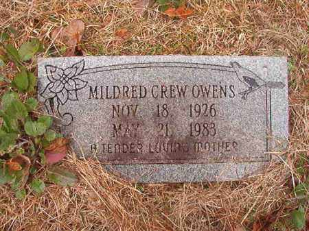 CREW OWENS, MILDRED - Union County, Arkansas | MILDRED CREW OWENS - Arkansas Gravestone Photos