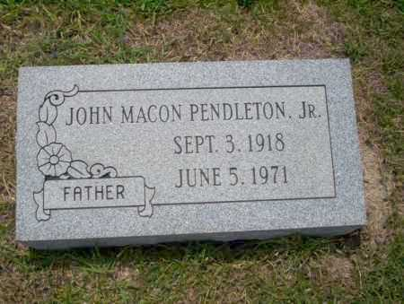 PENDLETON JR., JOHN MACON - Union County, Arkansas | JOHN MACON PENDLETON JR. - Arkansas Gravestone Photos