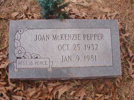 MCKENZIE PEPPER, JOAN - Union County, Arkansas | JOAN MCKENZIE PEPPER - Arkansas Gravestone Photos