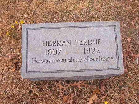 PERDUE, HERMAN - Union County, Arkansas | HERMAN PERDUE - Arkansas Gravestone Photos