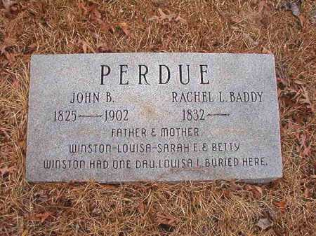 BADDY PERDUE, RACHEL L - Union County, Arkansas | RACHEL L BADDY PERDUE - Arkansas Gravestone Photos