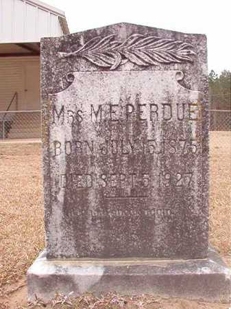 PERDUE, M E - Union County, Arkansas | M E PERDUE - Arkansas Gravestone Photos