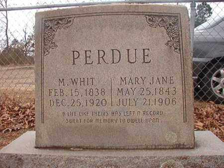 PERDUE, M WHIT - Union County, Arkansas | M WHIT PERDUE - Arkansas Gravestone Photos