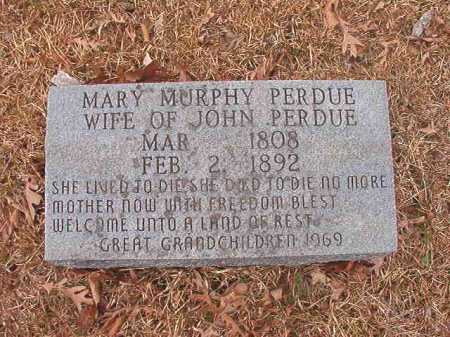 MURPHY PERDUE, MARY - Union County, Arkansas | MARY MURPHY PERDUE - Arkansas Gravestone Photos