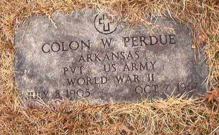 PERDUE (VETERAN WWII), COLON W - Union County, Arkansas | COLON W PERDUE (VETERAN WWII) - Arkansas Gravestone Photos