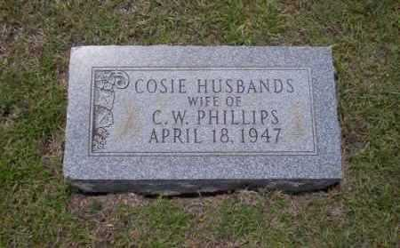 HUSBANDS PHILLIPS, COSIE - Union County, Arkansas | COSIE HUSBANDS PHILLIPS - Arkansas Gravestone Photos