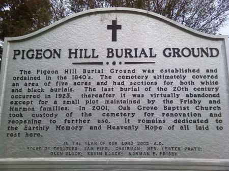 *PIGEON HILL HISTORY SIGN,  - Union County, Arkansas |  *PIGEON HILL HISTORY SIGN - Arkansas Gravestone Photos
