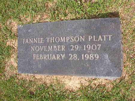 THOMPSON PLATT, FANNIE - Union County, Arkansas | FANNIE THOMPSON PLATT - Arkansas Gravestone Photos