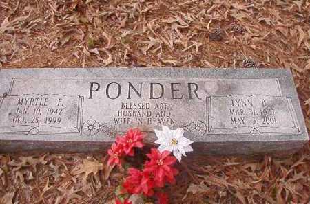 PONDER, MYRTLE F - Union County, Arkansas | MYRTLE F PONDER - Arkansas Gravestone Photos