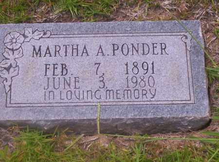 PONDER, MARTHA A - Union County, Arkansas | MARTHA A PONDER - Arkansas Gravestone Photos