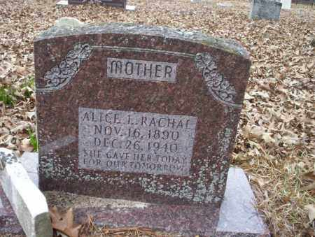 RACHAL, ALICE L - Union County, Arkansas | ALICE L RACHAL - Arkansas Gravestone Photos