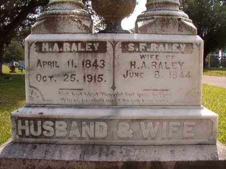 RALEY, H A - Union County, Arkansas | H A RALEY - Arkansas Gravestone Photos
