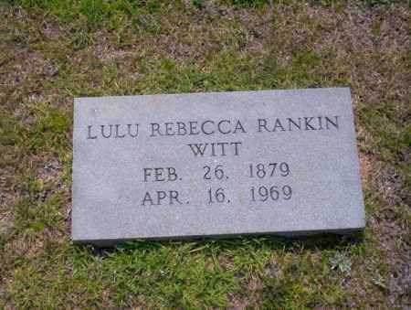 RANKIN, LULU REBECCA - Union County, Arkansas | LULU REBECCA RANKIN - Arkansas Gravestone Photos