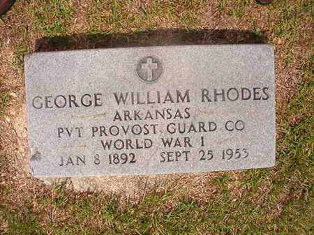 RHODES  (VETERAN WWI), GEORGE WILLIAM - Union County, Arkansas | GEORGE WILLIAM RHODES  (VETERAN WWI) - Arkansas Gravestone Photos