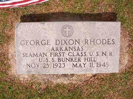RHODES  (VETERAN WWII, KIA), GEORGE DIXON - Union County, Arkansas | GEORGE DIXON RHODES  (VETERAN WWII, KIA) - Arkansas Gravestone Photos