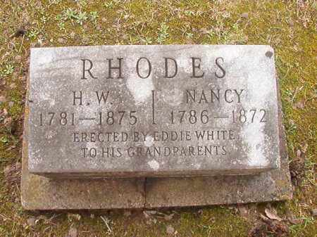 RHODES, NANCY - Union County, Arkansas | NANCY RHODES - Arkansas Gravestone Photos