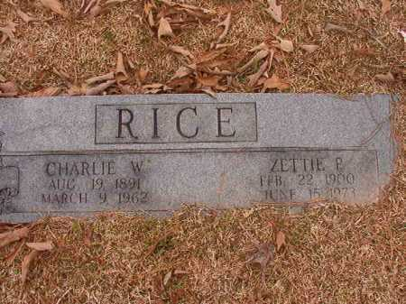 RICE, ZETTIE P - Union County, Arkansas | ZETTIE P RICE - Arkansas Gravestone Photos