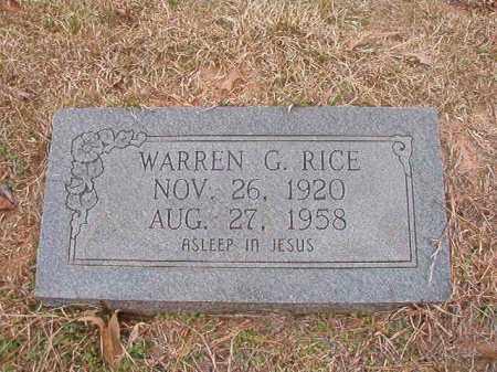 RICE, WARREN G - Union County, Arkansas | WARREN G RICE - Arkansas Gravestone Photos