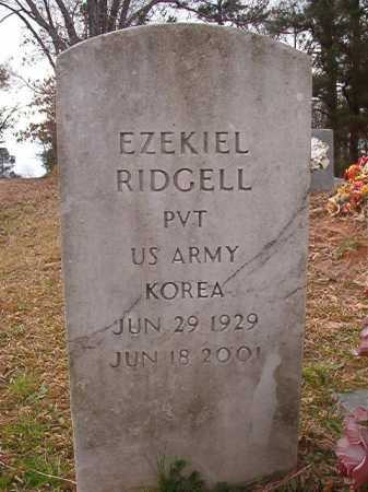 RIDGELL (VETERAN KOR), EZEKIEL - Union County, Arkansas | EZEKIEL RIDGELL (VETERAN KOR) - Arkansas Gravestone Photos