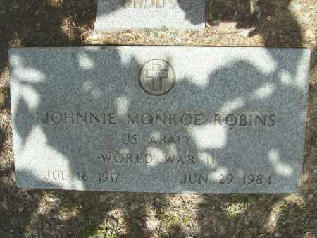 ROBINS (VETERAN WWII), JOHNNIE MONROE - Union County, Arkansas | JOHNNIE MONROE ROBINS (VETERAN WWII) - Arkansas Gravestone Photos