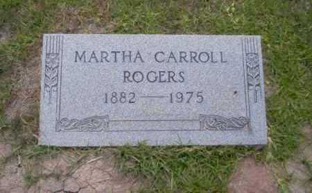 CARROLL ROGERS, MARTHA - Union County, Arkansas | MARTHA CARROLL ROGERS - Arkansas Gravestone Photos
