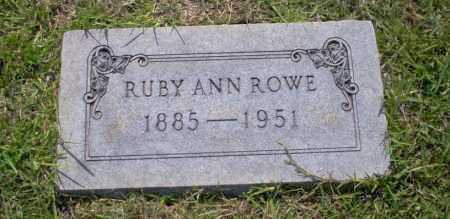 ROWE, RUBY ANN - Union County, Arkansas | RUBY ANN ROWE - Arkansas Gravestone Photos