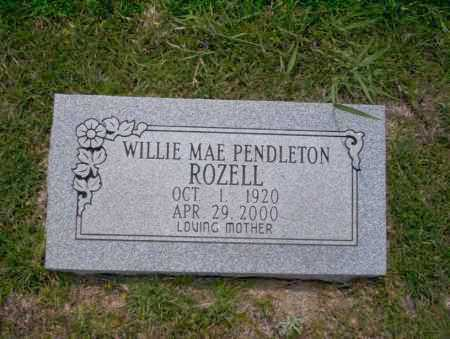 ROZELL, WILLIE MAE - Union County, Arkansas | WILLIE MAE ROZELL - Arkansas Gravestone Photos