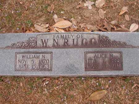 RUGG, WILLIAM N - Union County, Arkansas | WILLIAM N RUGG - Arkansas Gravestone Photos