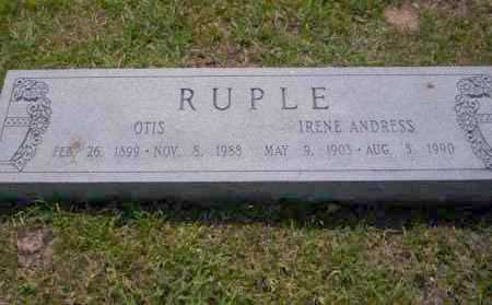 ANDRESS RUPLE, IRENE - Union County, Arkansas | IRENE ANDRESS RUPLE - Arkansas Gravestone Photos
