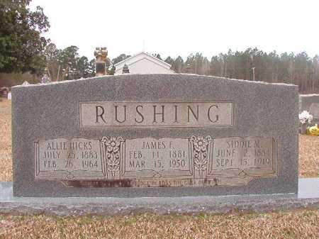 HICKS RUSHING, ALLIE - Union County, Arkansas | ALLIE HICKS RUSHING - Arkansas Gravestone Photos