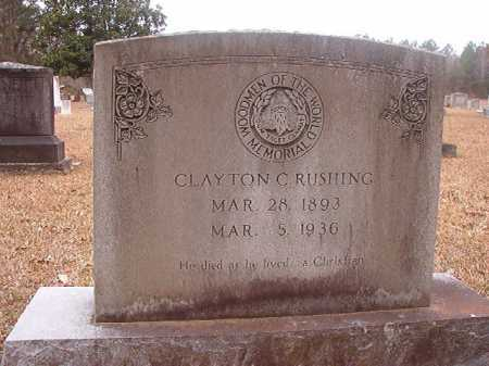 RUSHING, CLAYTON C - Union County, Arkansas | CLAYTON C RUSHING - Arkansas Gravestone Photos