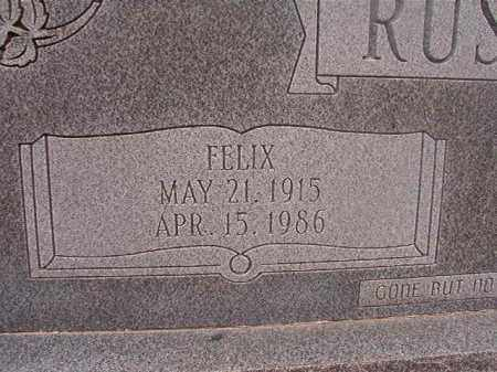RUSHING, FELIX - Union County, Arkansas | FELIX RUSHING - Arkansas Gravestone Photos